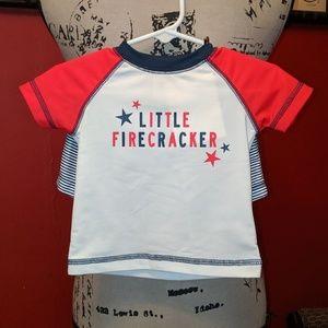 """Carter's """"Little Firecracker"""" swim set  💥💣🇺🇸"""